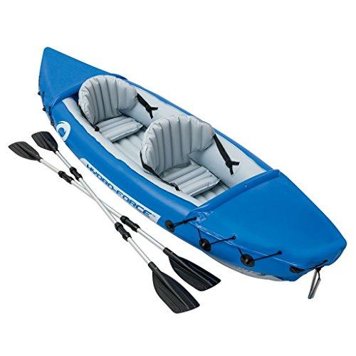 Bestway Kayak hinchable Lite Rapid X2 modelo 65077 con remos, 321x88cm