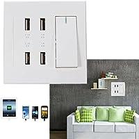 ELEGIANT Quattro Switch USB Presa a muro di potere del