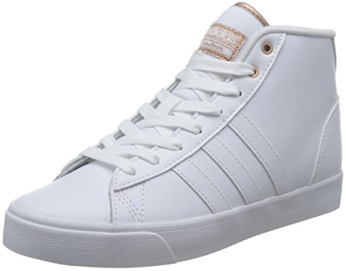 adidas Damen Cloudfoam Daily Qt Mid W Sneaker Low Hals Elfenbein (Ftwbla/ftwbla/cobmet)