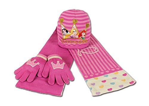 Principesse Set Sciarpa Cappello Guanti