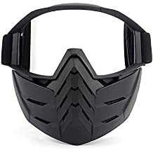 4542158e89 KKmoon Gafas Desmontable Máscara del Moto Cascos Abierto para Esquí  Snowboard Motocross