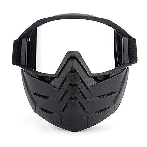 KKmoon Gafas Desmontable Máscara Moto Cascos Abierto