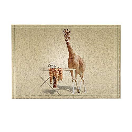 Aliyz Kreative Tierdekor, Giraffe verwendet Eisen für die Haut Badteppiche, Rutschfeste Fußmatte Bodeneingänge Indoor-Türmatte, Badmatte für Kinder, 15,7 x 23,6 Zoll, Bad-Accessoires,