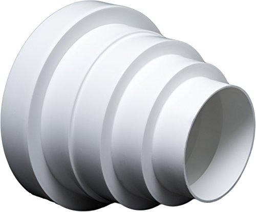 Universal Reduzierstück für Lüftungssysteme Ø 80-150 mm. Reduzierverbinder Reduktion Rohr Ø 80 100 120 125 150 mm. Übergang Lüftung Rundrohr Ventilation Lüftungskanal. RDRC.
