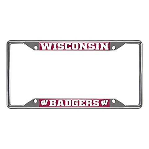 FANMATS NCAA University of Wisconsin Badgers Chrome License Plate Frame by Fanmats