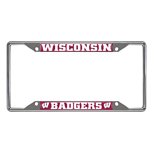 FANMATS NCAA University of Wisconsin Badgers Chrome License Plate Frame