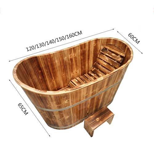 Imagen para HTZ Bañera Para Adultos Bañera Para El Hogar Espesar Madera Baño De Espuma Para Adultos Bañera 160x60x65CM Marrón 6 Años O Más (Tamaño : 160 * 60 * 65cm)