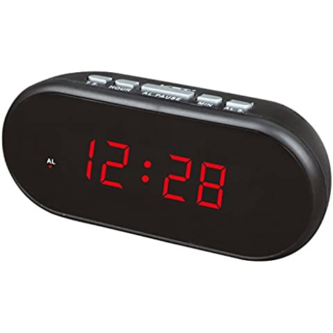 Hotel LED acustico sveglia sveglia orologio digitale LED Display facile da vedere più chiara Set (Mute Set)