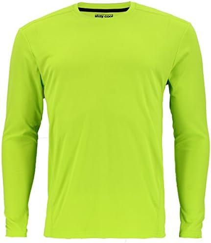 Adidas Primo Strato da Uomo ClimaLite ClimaLite ClimaLite UPF Long-Sleeve Crew Top, Uomo, Semi Solar Slime | Molti stili  | Aspetto estetico  88ce8b