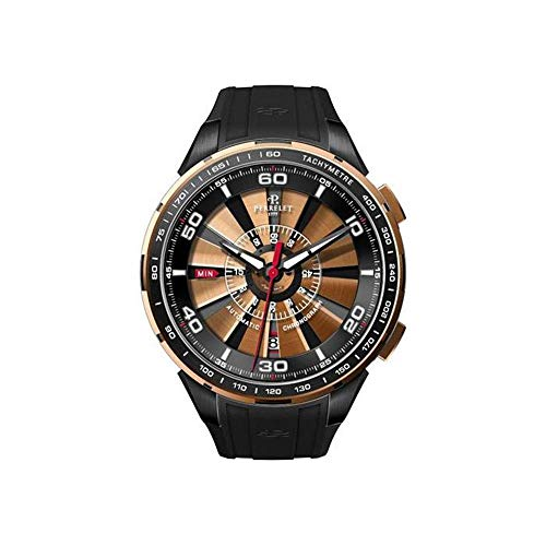 Perrelet Men's A3036/2 Turbine Analog Display Swiss Automatic Black Watch