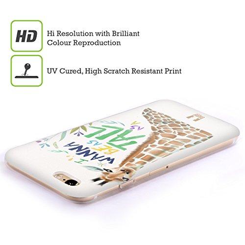 Head Case Designs Unbegrenztheitsstreifen Meine BFF Hüllen Soft Gel Hülle für Apple iPhone 6 / 6s Giraffe