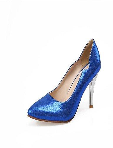 WSS 2016 Chaussures Femme-Bureau & Travail / Décontracté-Bleu / Argent / Or / Fuchsia-Talon Aiguille-Talons / Bout Pointu-Talons-Cuir Verni golden-us6 / eu36 / uk4 / cn36