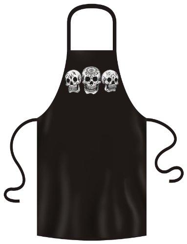 Totenkopf Skelett Gotik Kochschürze: 3 Skulls - Day of the dead -- Grillschürze one size Fb:...