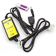 vhbw USB Aux Adapter Kabel KFZ Radio für Honda Civic 2006-2011, CRV 2005