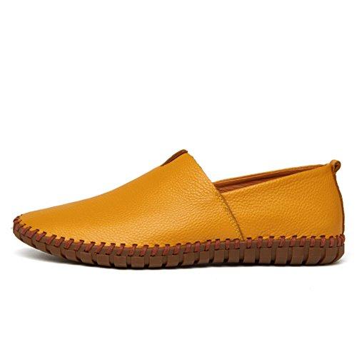 URBANFIND  Walking Shoes,  Herren Durchgängies Plateau Sandalen Gelb