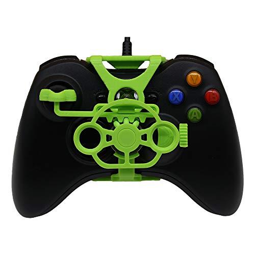 Xbox 360 Gaming Rennrad, 3D-bedrucktes Mini-Lenkrad für Xbox 360 Controller Grün (Brilliant Green)