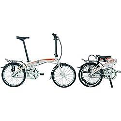 Bicicleta plegable DAHON Curve i3, color plata, tamaño unisex