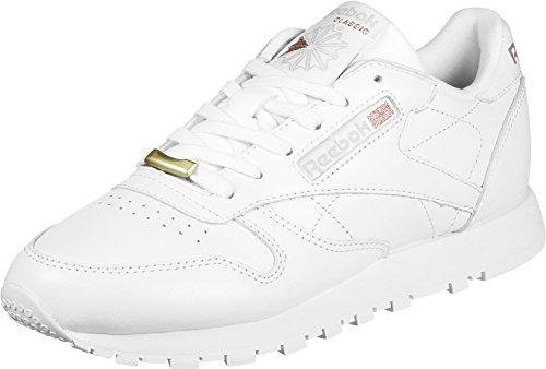 new styles f7281 a5baf Leather Hardware Reebok WHITE ROSE GOLD Gymnastikschuhe ...