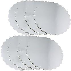 COM de Four® 8x para tartas, plato para tartas Revestimiento, base para decorar y servir en diferentes tamaños 08 Stück - groß