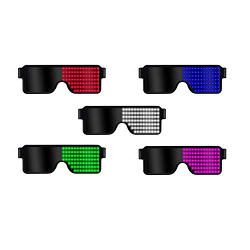 Elegante Brille mit LED-Licht, dynamisch, Leuchtend, lustig, USB-Ladegerät für Club, Festival, Party, Sonnenbrille, Licht, Weihnachtsdekoration Weißes Licht
