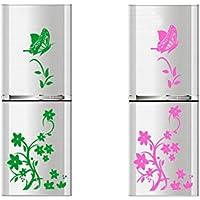 Dosige Verde Mariposa Pegatinas de Nevera Pegatinas de Ventana Pared Extraíble Pegatinas Vinilo Decal Murales Para Cocina Restaurante