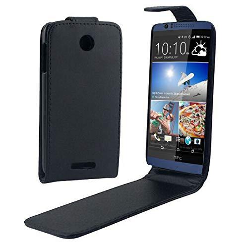 PAN-Cases Für HTC Desire 510 Vertical Flip Magnetic Snap Ledertasche (Schwarz) (Color : Black)