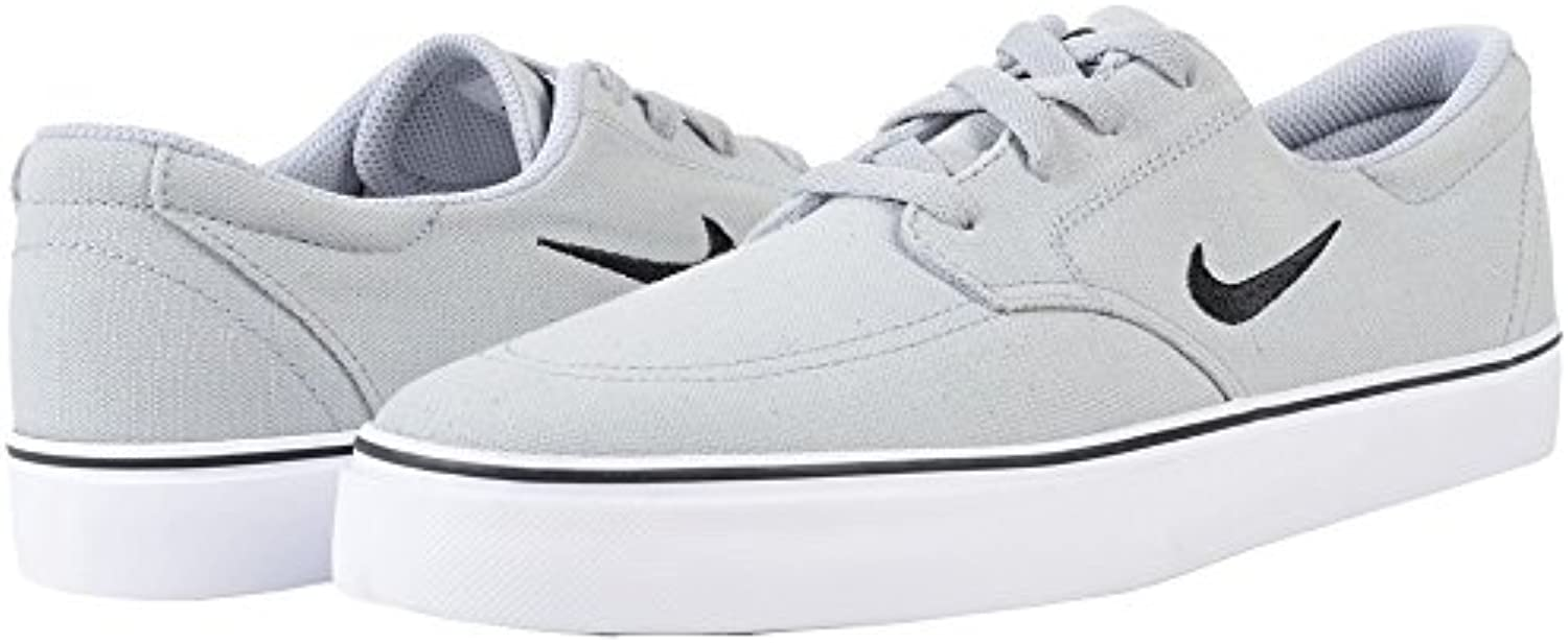 NIKE Men's SB Clutch Shoe  wolf grey/black white  7.5 D US