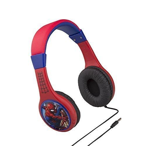 Cuffie spiderman per bambini con funzionalità di limitazione del volume incorporata per l'ascolto sicuro dei bambini