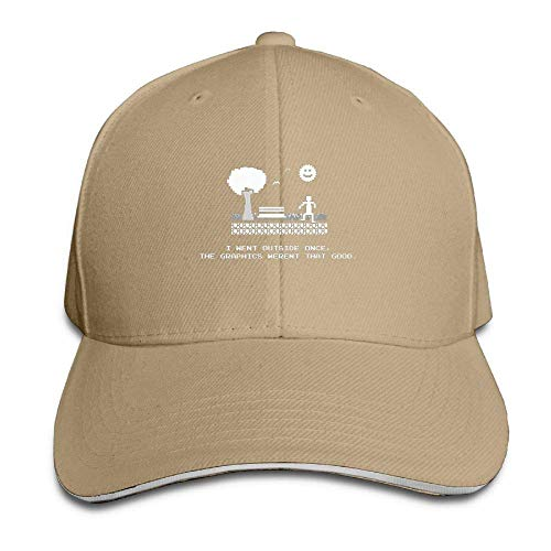I Went Outside Once Adjustable Sandwich Baseball Cap for Men and Women (Infant Baseball Jersey)