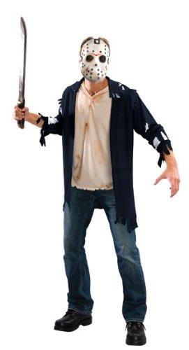 Original Lizenz Jason Voorhes Kostüm Freitag der 13 Crystal Lake Kettensäge Massaker Chainsaw massacre Gr. STD, XL, Größe:ML