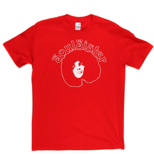 Soul Sister Funk Music Womens Girls Tee Genre T-shirt Rot