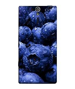 Fuson Designer Back Case Cover for Sony Xperia SL :: Sony Xperia S :: Sony Xperia SL LT26I LT26ii (cranberry gooseberry blackberry bilberry strawberry)
