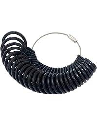 uniqueen 27pièces Kit de Bijoux Ring Sizer Jauge de doigt en plastique outil de mesure Appareil pour anneaux diamètres