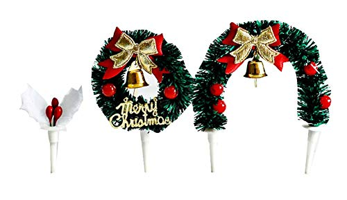 Pack von 3 Weihnachten Cupcake Toppers, Cupcake Dekoration für Zuhause/Party, A1