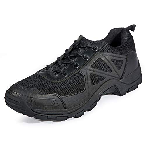 FREE SOLDIER Tactical Desierto Zapatos Rápido Antideslizante Camping Senderismo Montaña Todo Terreno Off-Road Zapatos (Negro, 47)
