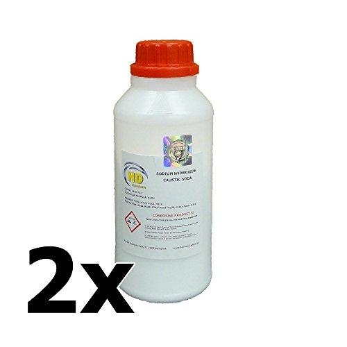 2x 500g soda Caustica (99%) grade 'perla' Sturatubi, soap making idrossido di sodio