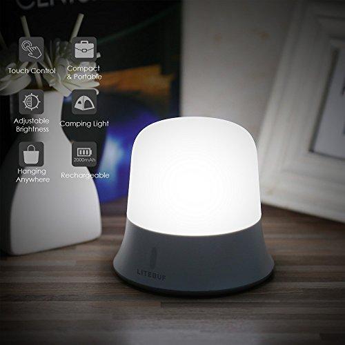 Lámpara de Noche LED Táctil Regulable Multi-modo, Lámpara de Cabecera, Luz de Noche LED Infantil para Niños, Dormitorio Sala de Estar Cuarto de Niños Noche Lámpara Puede ser Colgado, de Mano y En la Mesa