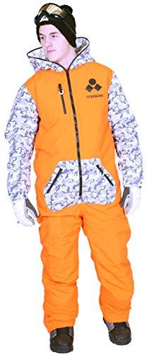 Oneskee Mark III Herren Skianzug Camouflage Orange