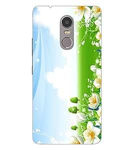 ColourCraft Lovely Flowers Design Back Case Cover for LENOVO K6 NOTE