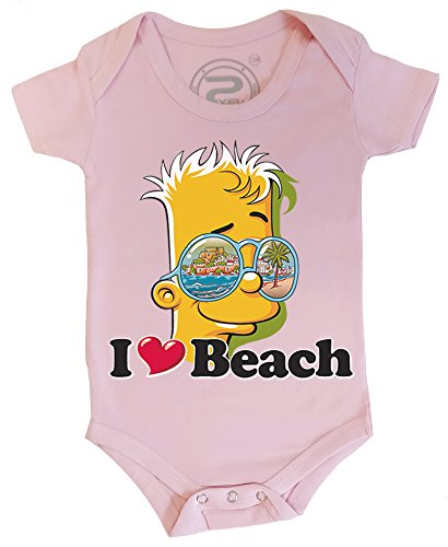 PIXEL EVOLUTION 3D animierte Body Baby BART Love Beach in Augmented Reality größe 18 Mois - Pink