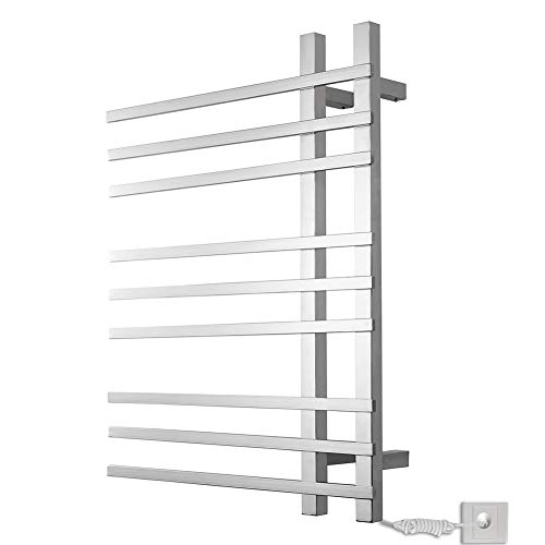 L.BAN Badheizkörper Energieeffizient Paneelheizkörper Wandmontage Elektrische Handtuchhalter, Rostfreier Stahl Mit Auslaufschutz