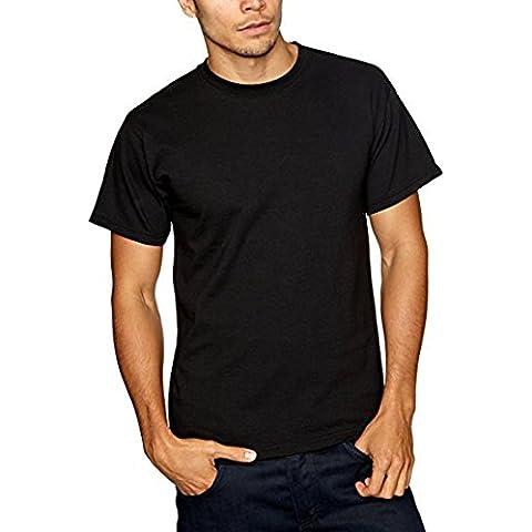 Camiseta De Algodón Sólido De Algodón De Los Hombres Camiseta Casual