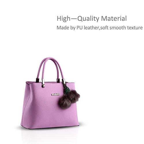 NICOLE&DORIS nuovo sacchetto di palle di pelo femminile coreano Borsa a tracolla Messenger pensili(Sapphire) purple taro