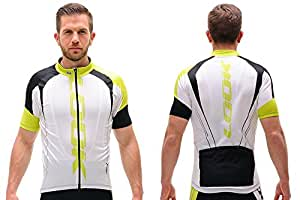 Look - Maillot Manches Courtes Pro Team Blanc Vert - Maillots XXL