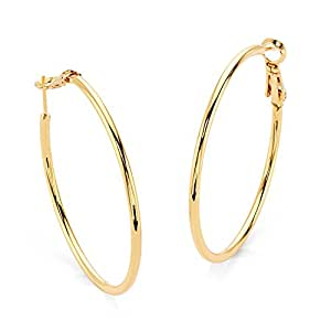 "Young & Forever ""Elite Collection"" Gold Plated Eternity Hoop Earrings for Women by CrazeeMania (E60303) diwali Gift special"