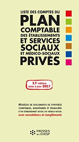 Liste des comptes du plan comptable des services sociaux et médico-sociaux privés