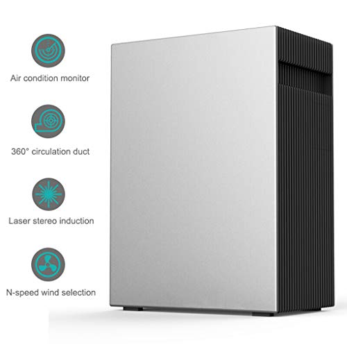 414QTZ3QtCL. SS500  - Air Purifier, Air Monitoring Laser Stereo Induction N-Speed Wind Selection for Allergies Eliminator Smokers/Smoke/Harmful Gas-Home Office