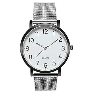 MJARTORIA-Herren-Analog-Quarzuhr-Silber-Mesh-Edelstahl-Armband-schwarz-Gehuse-blau-Zifferblatt-Uhr-Mnner-Business-Armbanduhr-Geschenk
