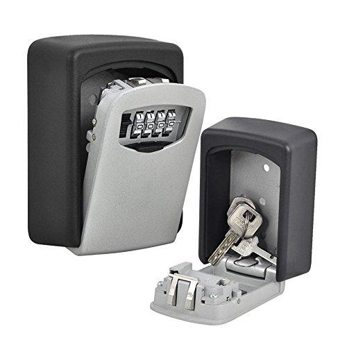 Caja de seguridad para llaves de CDC® con contraseña, montaje en pared, para exterior,...
