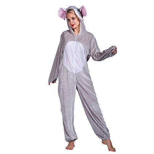 Für Erwachsene Kostüm Elefanten - EraSpooky Unisex Elefant Tier Kostüm Faschingskostüme Einteiler Halloween Party Karneval Fastnacht Tierkostüm für Erwachsene Herren Damen